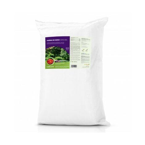 CULTIVERS Harina de Hueso de 20 kg. Abono para Plantas ecologico Que aporta fosforo y Calcio a Todo Tipo de Cultivos