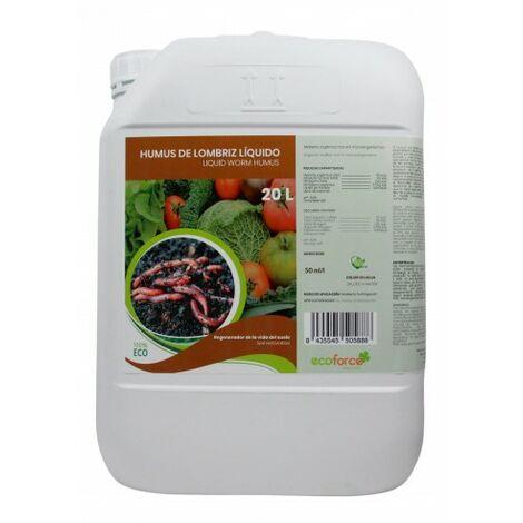 CULTIVERS Humus de Lómbriz 20 L. Materia orgánica Líquida Rica en Microorganismos. Regenerador de la Vida en el Suelo