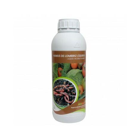CULTIVERS Humus Líquido de Lombriz Ecológico de 1 L. Materia Orgánica Rica en Microorganismos. Regenerador de la Vida del Suelo