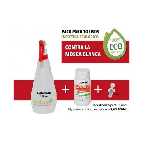 CULTIVERS Insecticida ecológico de 250 ml Especial contra La Mosca Blanca para Plantas de Interior y Exterior.Elimina Las Plagas