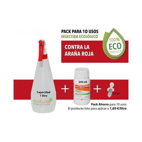 CULTIVERS Insecticida ecológico Especial contra La Araña Roja para Plantas de Interior y Exterior. Acción por Contacto