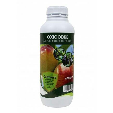 CULTIVERS Oxicobre-Eco de de 1 L. Oxicloruro de Cobre al 70% ecológico. Es una fuente de Cobre para todo tipo de plantas