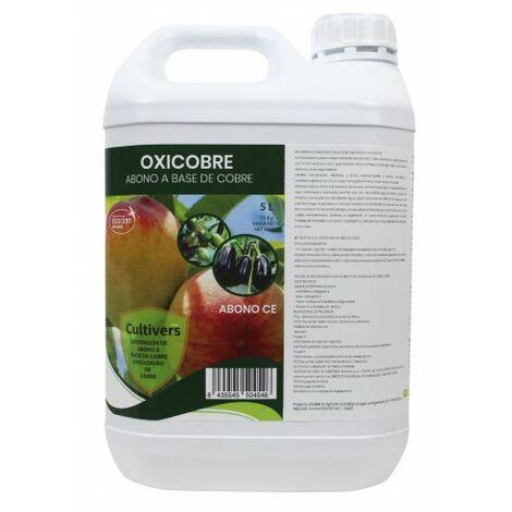 CULTIVERS Oxicobre-Eco de de 5 L. Oxicloruro de Cobre al 70% ecológico. Es una fuente de Cobre para todo tipo de plantas