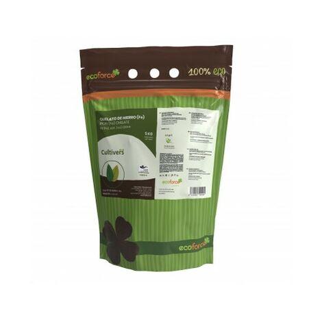 CULTIVERS Quelato de Hierro de 5 kg. Fertilizante ecológico Nutriente Fundamental para Las Plantas
