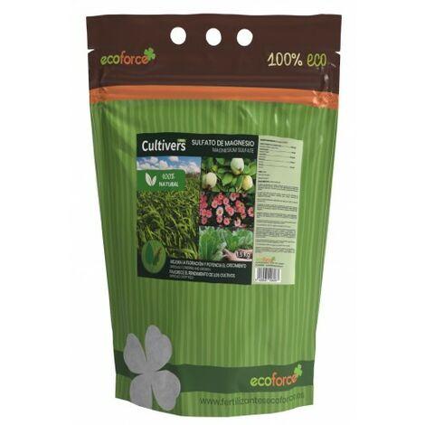 CULTIVERS Sulfato de Magnesio de 1,5 kg. Abono Universal ecológico 100% Natural
