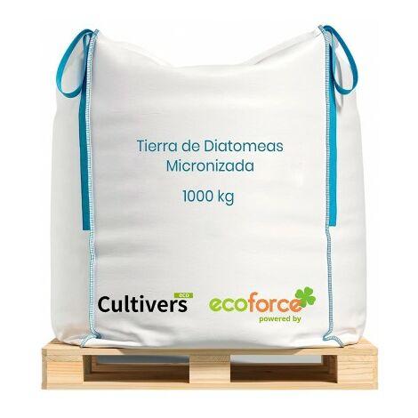 CULTIVERS Tierra de Diatomeas micronizada 1000 Kg. Tierra de diatomea no calcinada de Alta pureza, sin tratamientos ni residuos