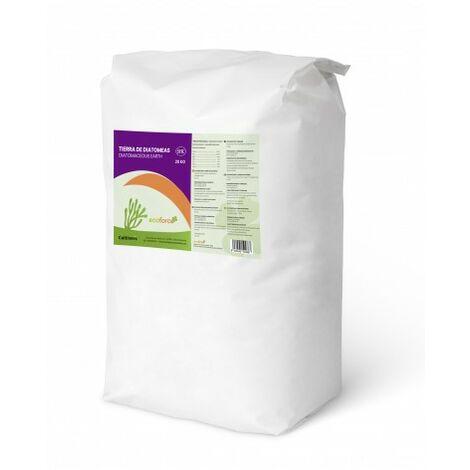 CULTIVERS Tierra de Diatomeas micronizada 20 Kg. Tierra de diatomea no calcinada de Alta pureza, sin tratamientos ni residuos