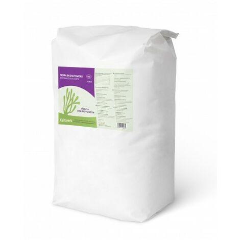 CULTIVERS Tierra de Diatomeas molida 25 kg. Tierra de diatomea no calcinada de alta pureza, sin tratamientos ni residuos