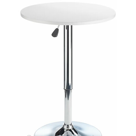 Cumbria Round height Adjustable White Wooden Table