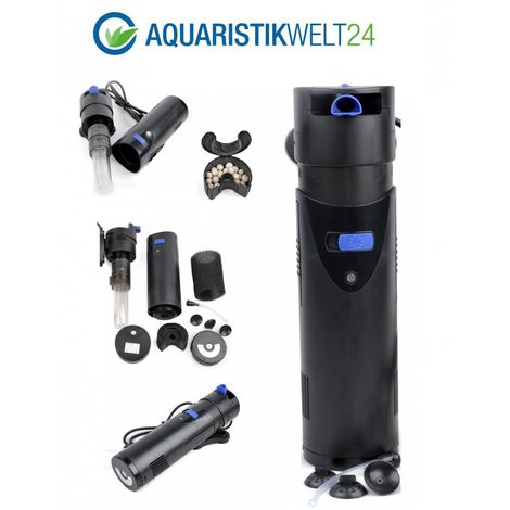 CUP-807 Aquarium Innenfilter inkl. 7 Watt UVC Klärer 700 L/h bis 500l Aquarien