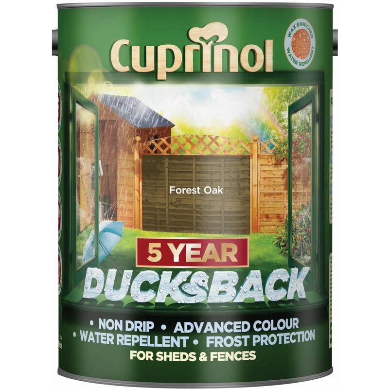Image of 5092434 Ducksback 5 Year Waterproof for Sheds & Fences Forest Oak 5L - Cuprinol