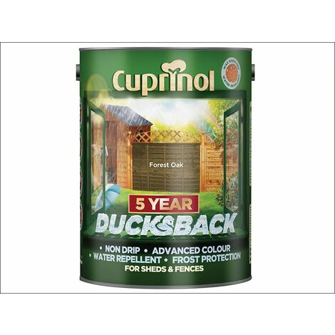 Ducksback 5 Year Waterproof for Sheds & Fences Forest Oak 5 Litre (CUPDBFO5L)