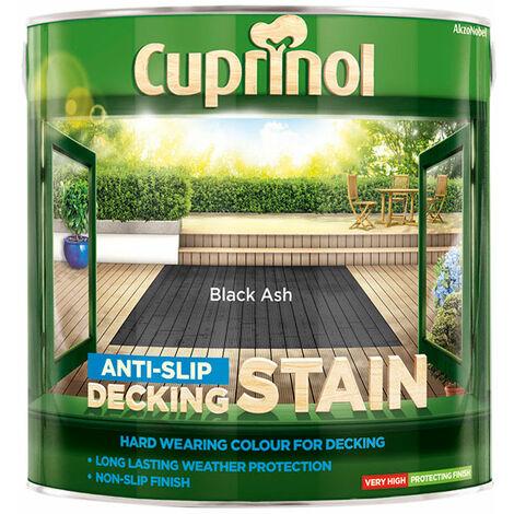 Cuprinol 5122405 Anti-Slip Decking Stain Black Ash 2.5 litre