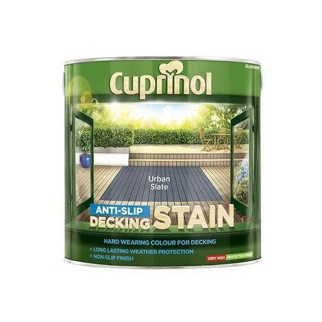 "main image of ""Cuprinol 5122407 Anti Slip Decking Stain Urban Slate 2.5 Litre"""