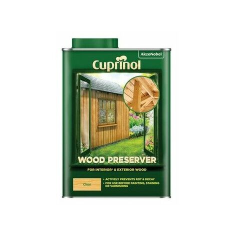 Cuprinol 5330417 Wood Preserver Clear 1 litre