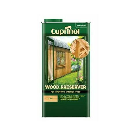 Cuprinol 5330418 Wood Preserver Clear 5 litre