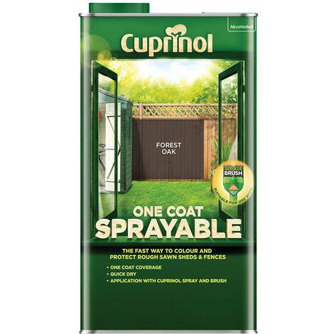 Cuprinol 5355972 One Coat Sprayable Fence Treatment Forest Oak 5 litre