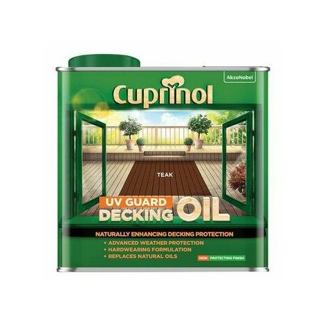 Cuprinol 5380727 UV Guard Decking Oil Teak 2.5 litre