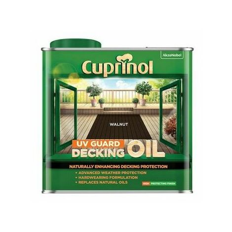 Cuprinol 5380729 UV Guard Decking Oil Walnut 2.5 litre