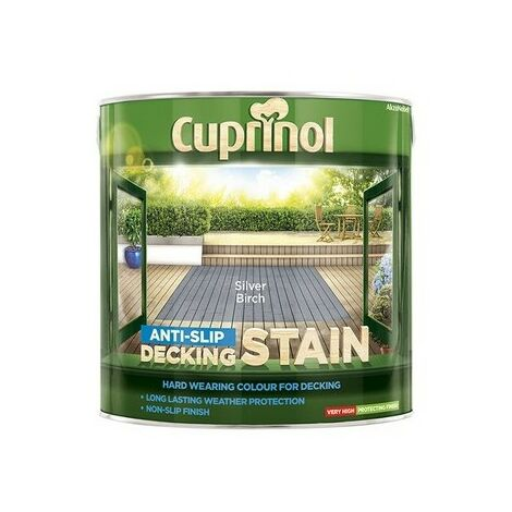 Cuprinol 5122406 Anti Slip Decking Stain Silver Birch 2.5 Litre