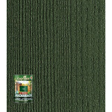 Cuprinol Ducksback 5 Year Waterproof For Sheds & Fences Forest Green 5 Litre