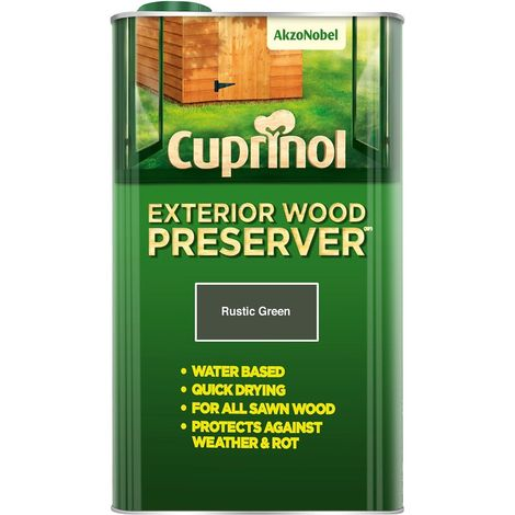 Cuprinol Exterior Wood Preserver (Bp) 5L (choose colour)