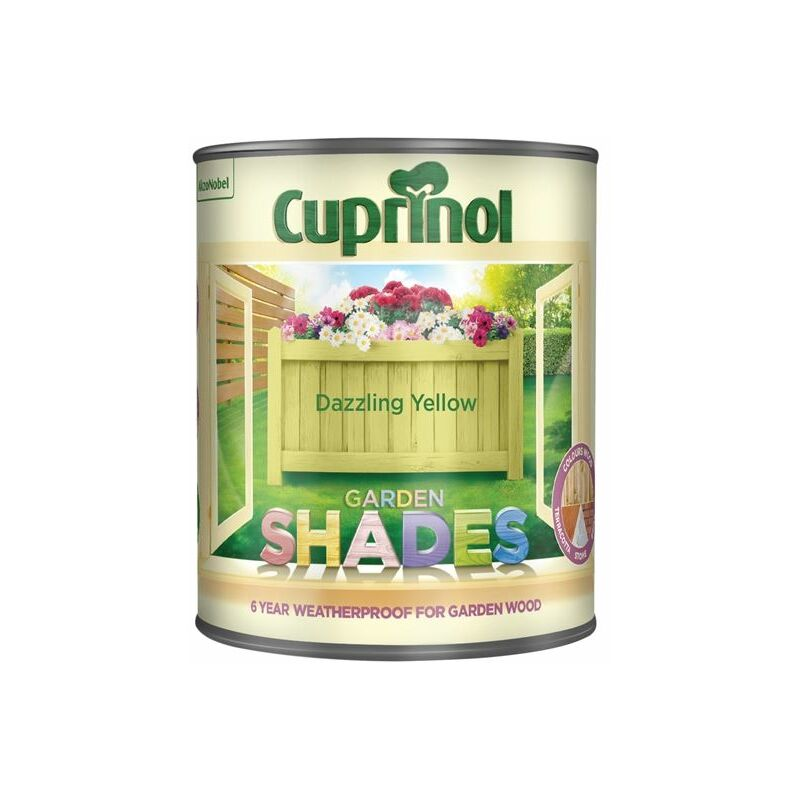 Image of Garden Shades Dazzling Yellow 1 Litre ( GSDAZ1L) - CUP