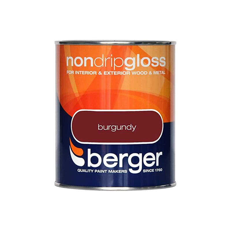 Image of Berger Non Drip Gloss 750ml Burgundy (306024)