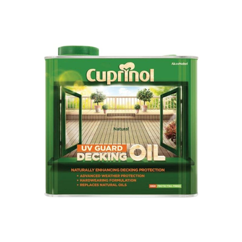 Image of 2.5l Decking Oil And Protector - Natural - Cuprinol