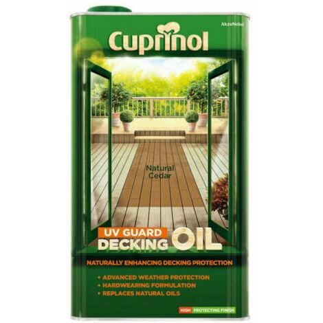 Cuprinol UV Guard Decking Oil 5L Natural Cedar