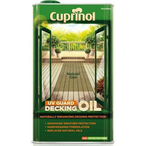 Cuprinol UV Guard Decking Oil 5L Natural Oak