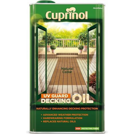 Cuprinol UV Guard Decking Oil 5L (select colour)