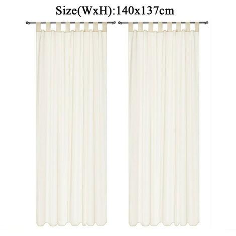 Curtain Voile Window 140*137cm Creamy-White Living Room