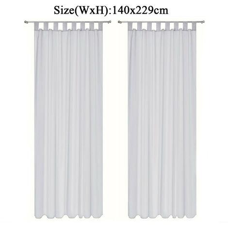 Curtain Voile Window 140x229cm Grey Living Room