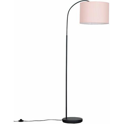 Curva 150cm Dark Grey Floor Lamp + LED Bulb - Grey - Grey