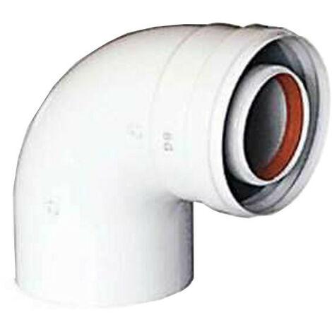 Curva coaxial 90° para desagüe de humos calentador de agua Baxi 60/100 KHG71410151