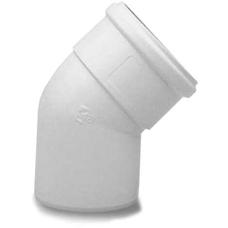 Curva coaxial de 45° para el escape de gases de combustión de los calentadores de agua Baxi 60/100 KHG71410161