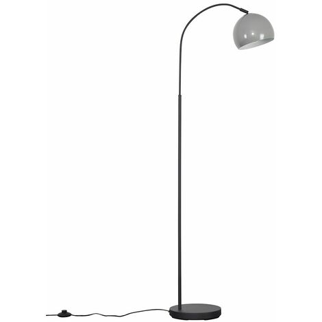 Curva Dark Grey Floor Lamp + LED Bulb