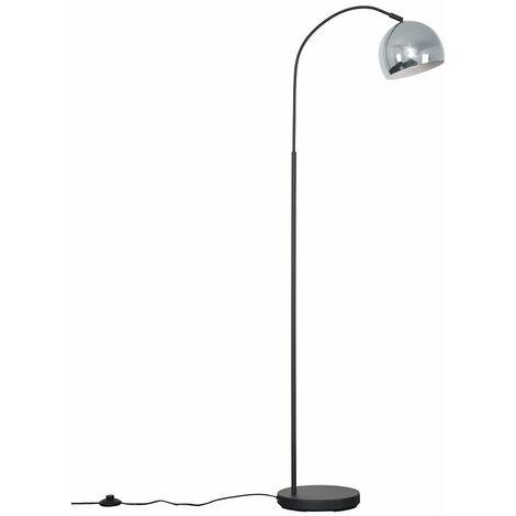 Curva Dark Grey Floor Lamp + LED Bulb