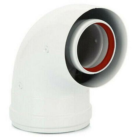Curva de 90° coaxial Baxi 60/100 para calentadores de agua KHG71410141