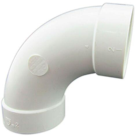 Curva de 90º de PVC Conexiones Hembra - Hembra para Aspiración Centralizada