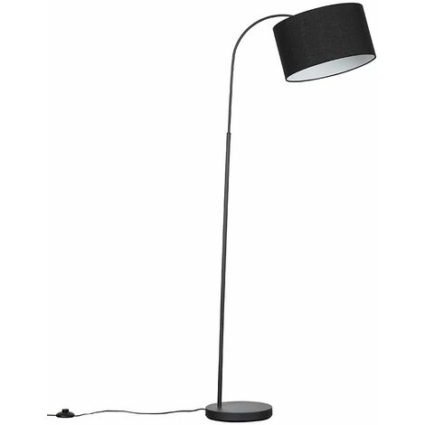 Curva Floor Lamp in Dark Grey with LED Bulb