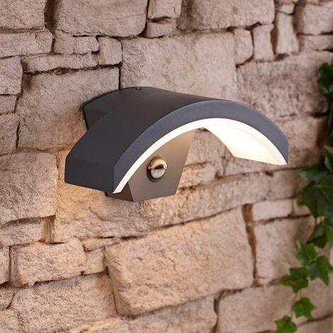 """main image of """"Curve Halo Applique LED Murale Courbé Moderne Extérieur 7,5W IP54 Capteur IRP"""""""