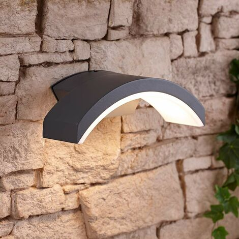 Curve Halo Modern IP54 LED Outdoor Wall Mounted Down Light - Garden Patio Porch