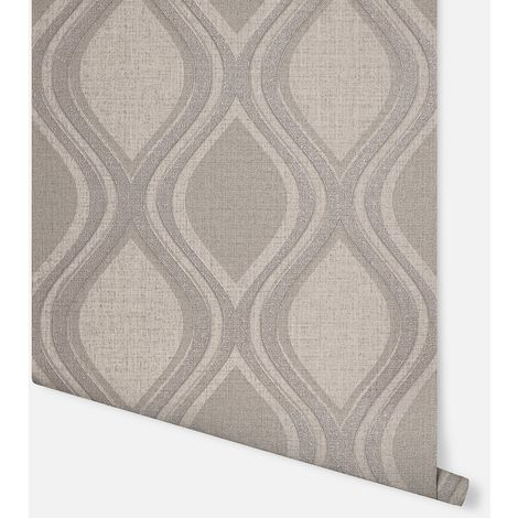 Curve Taupe Wallpaper - Arthouse - 295102