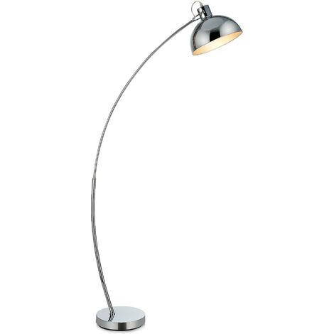 Curved Arco Floor Lamp LED Chrome Shade Versanora Modern Lighting VN-L00024-UK