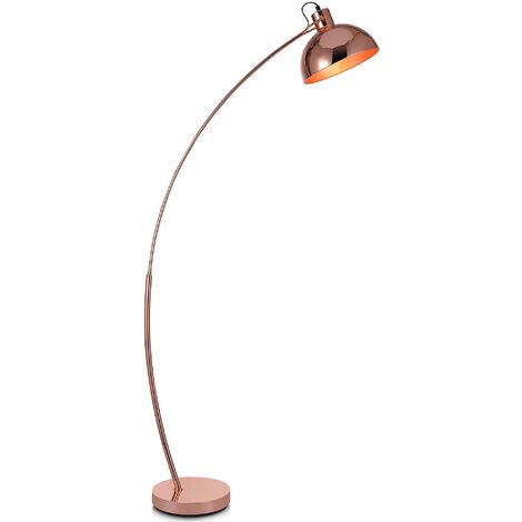 Curved Arco Floor Lamp LED Gold Shade Versanora Modern Lighting VN-L00025-UK