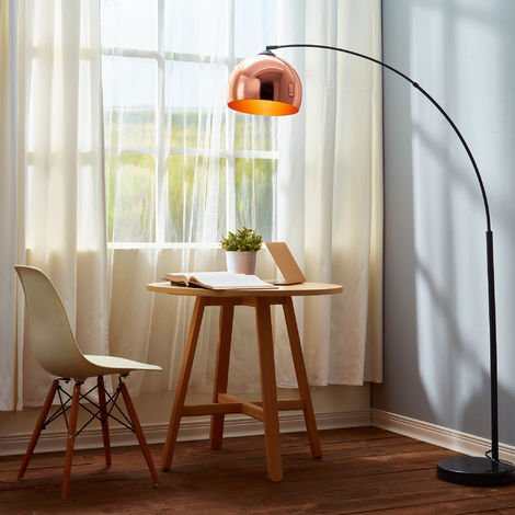 Curved Arquer Floor Lamp Copper Shade by Versanora Modern Lighting VN-L00011-UK