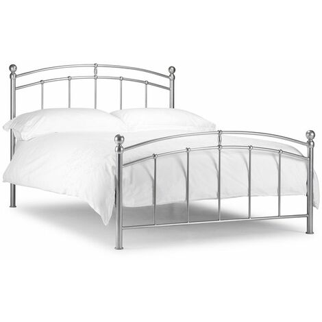 "Curved Metal High End Bed Frame - Double 4ft 6"" (135cm)"