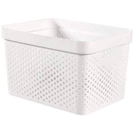 CURVER Bac Infinity 17L Dots - Plastique recyclé - Blanc